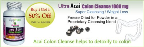 Buy ACAI Colon Cleanse Capsules - Naturals Cleanse