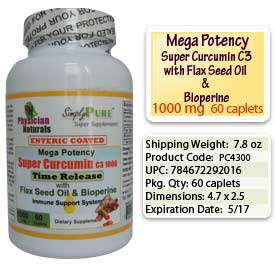 CurCumin with Bioperine and Flaxseed Oil, Enteric Coated Caplets