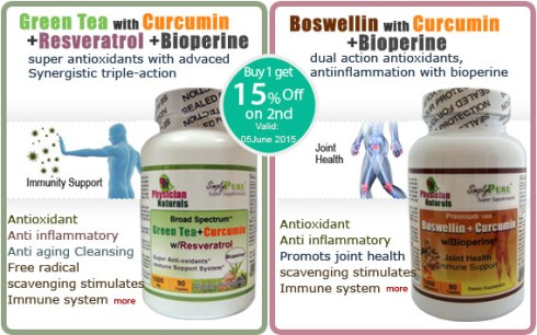 Curcumin with Green Tea Curcumin with Boswellin
