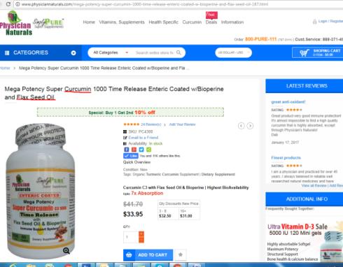 Curcumin Flax Seed Oil omega 3 supplement