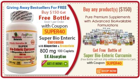 #1 Seller Ultra Bioavailable Super BioEnteric Curcumin 800 mg ($40 Value)