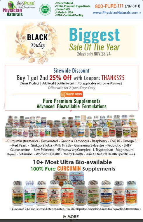 Black Friday Supplements Deals 2018