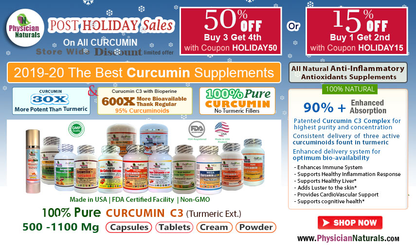 Post HOLIDAY Sales curcumin